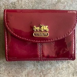 Coach Business Card Patent Leather Holder